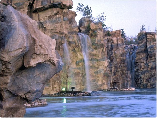 Manmade Rock Waterfall