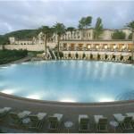 Pelican Hill Resort Pool at Dusk
