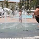 Terranea Resort Water Fountain with Kids