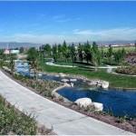 Riverwalk Stormwater Management Stream and Sidewalk